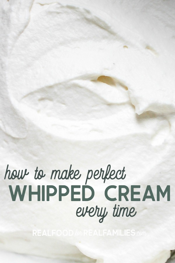 how to make perfect homemade whipped cream every time