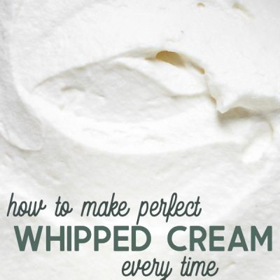 Easy homemade whipped cream recipe