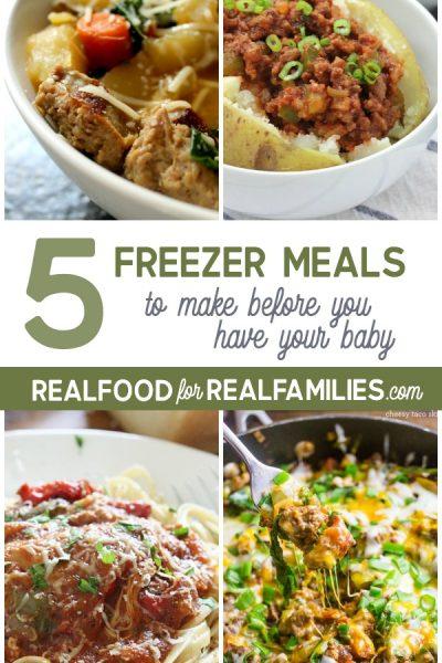 5 Healthy freezer meals to make before you have a baby