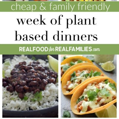 EASY CHEAP & FAMILY FRIENDLY PLANT BASED WEEK OF DINNER RECIPES – January 12