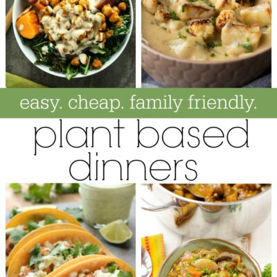 Easy cheap & family friendly plant based week of dinner recipes