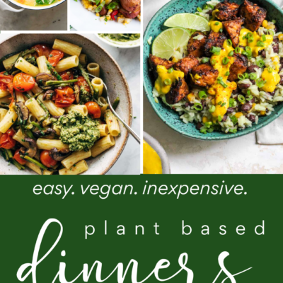 Easy inexpensive plant based dinners for families