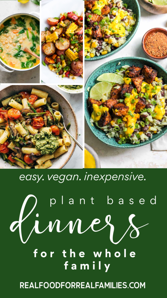 easy plant based dinners for a family