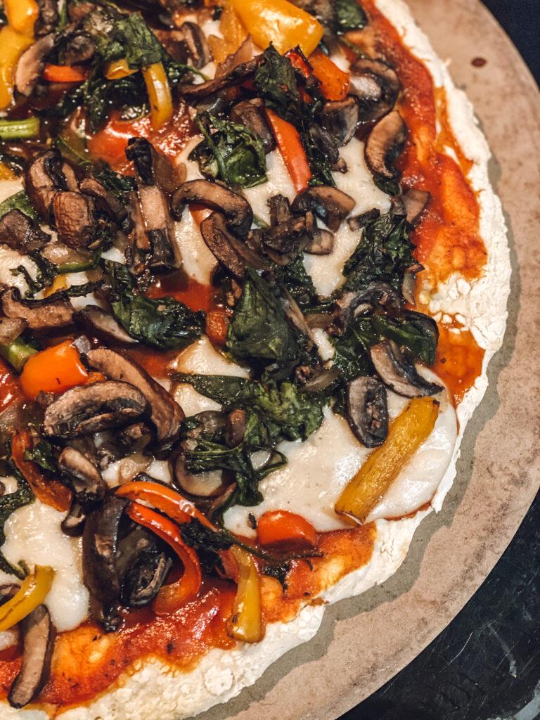 homemade easy vegan pizza dough