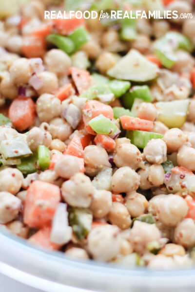 plant based chick pea salad meal prep recipe