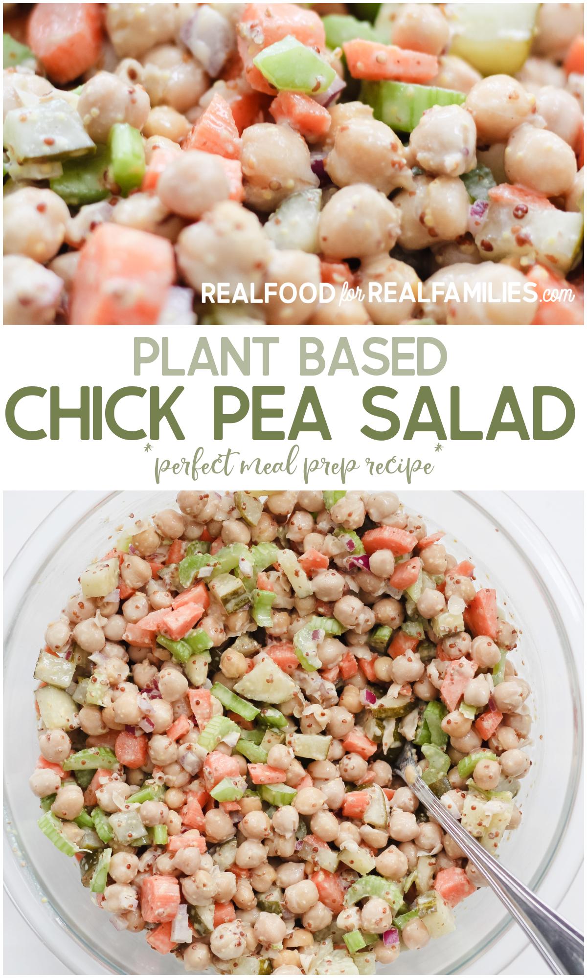 plant based chick pea salad recipe
