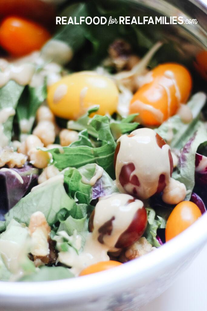 easy healthy plant based salad dressing