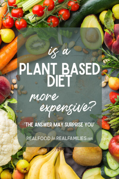 is a plant based diet more expensive